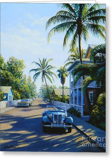 Quiet Day Key West Greeting Card by Frank Dalton