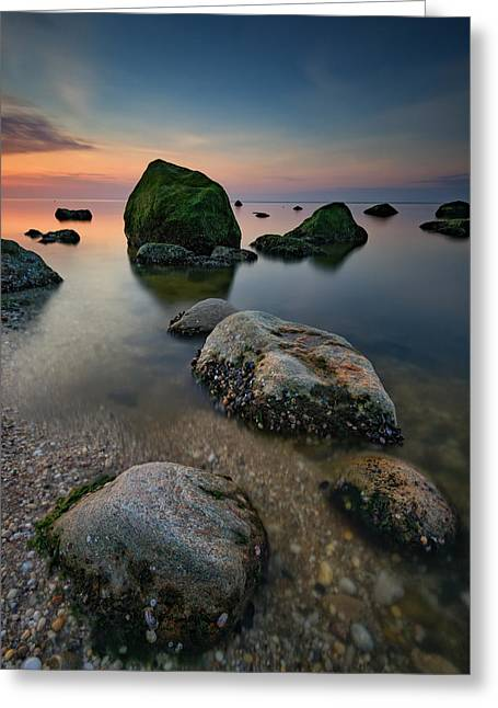 Quiet Long Island Sound Greeting Card by Rick Berk