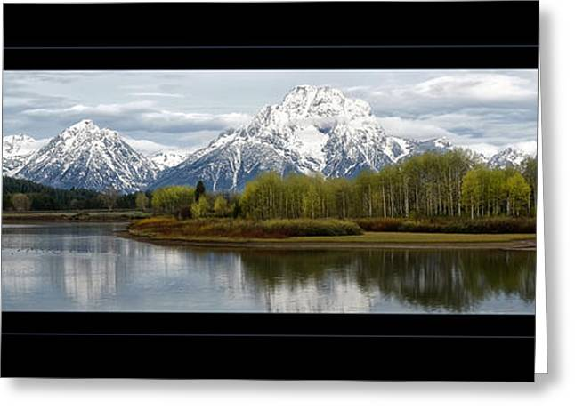 Quiet Morning At Oxbow Bend Greeting Card
