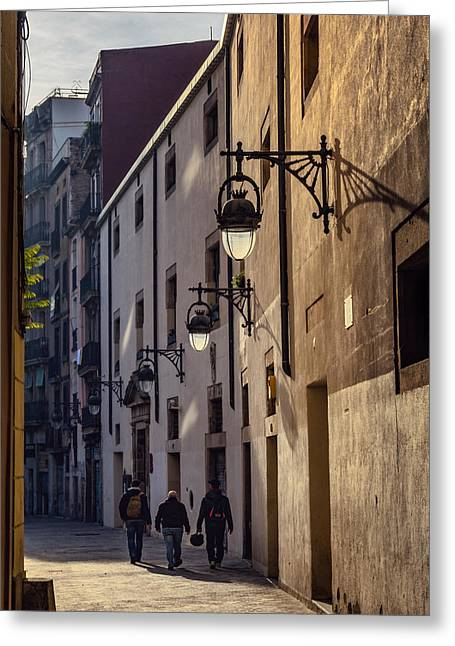 Quiet Morning Barcelona Walk Greeting Card