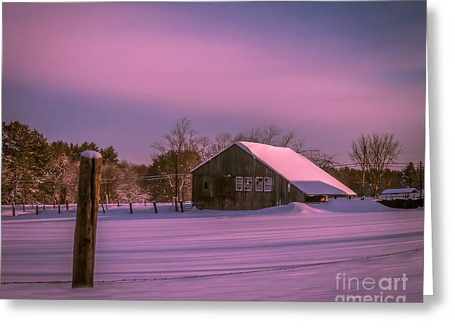 Quiet Morning Greeting Card by Claudia M Photography