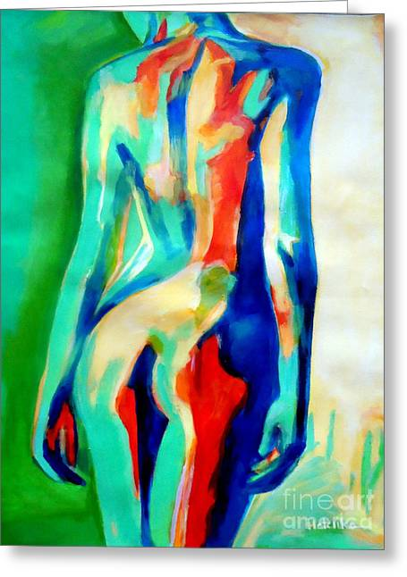 Quiet Nude Greeting Card