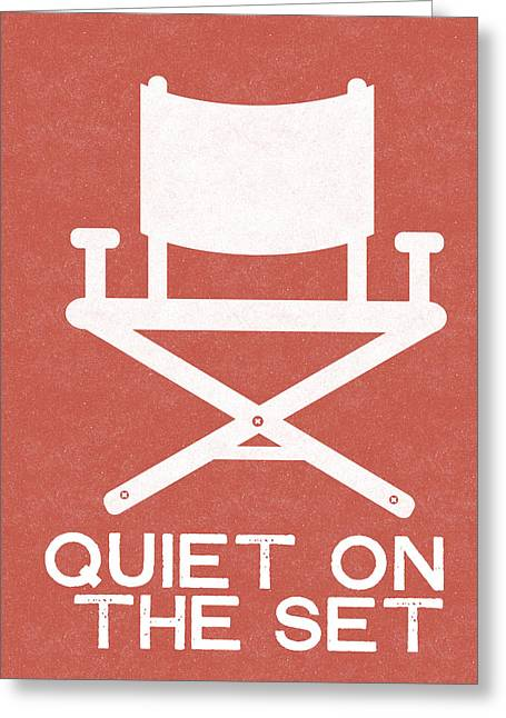 Quiet On Set 2- Art By Linda Woods Greeting Card