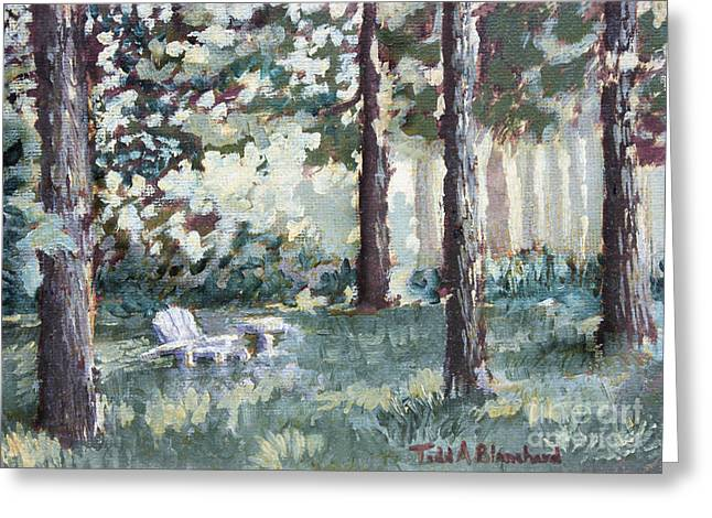 Quiet Place Greeting Card by Todd A Blanchard