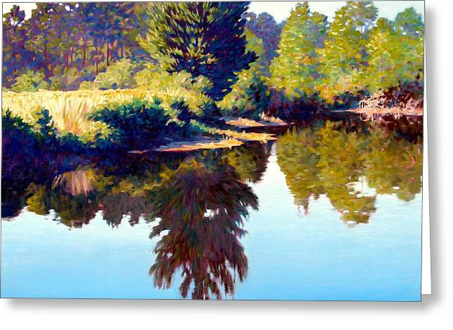 Quiet Pond Greeting Card by Kevin Lawrence Leveque