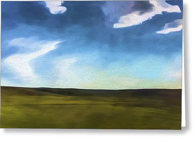 Quiet Prairie II Greeting Card by Jon Glaser