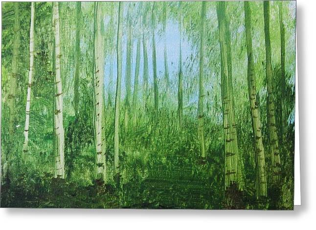 Quiet Stroll Greeting Card by Trilby Cole