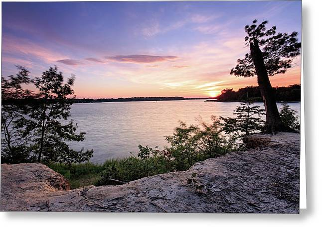 Greeting Card featuring the photograph Quiet Sunset by Jennifer Casey