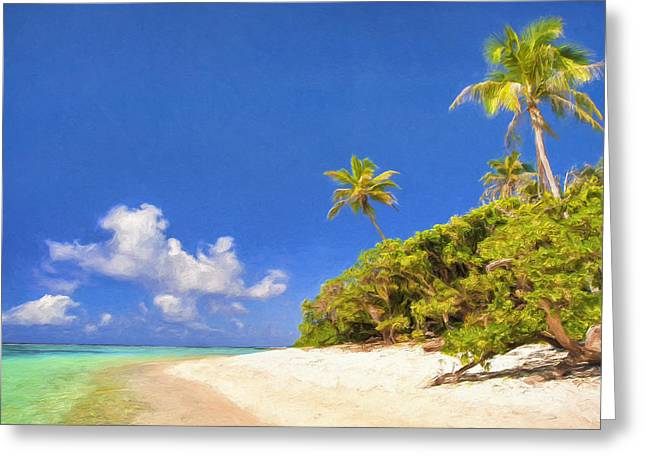 Quiet Tahiti Beach Greeting Card