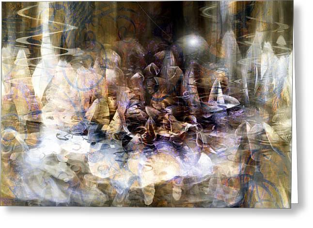Greeting Card featuring the digital art  Quiet Thunder by Linda Sannuti