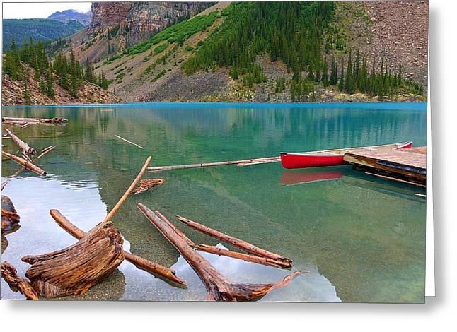 Moraine Lake I, Alberta Greeting Card