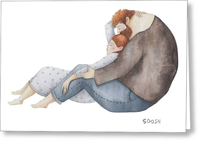 Quiet Time Greeting Card by Soosh