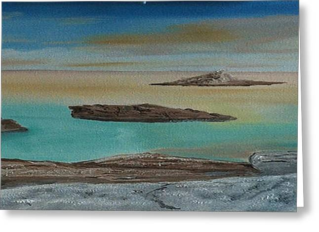 Greeting Card featuring the painting Quiet Tropical Waters by Rod Jellison