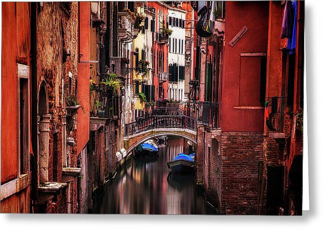 Quiet Venice Greeting Card by Andrew Soundarajan