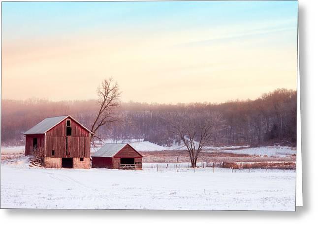 Quiet Winter Valley Greeting Card by Todd Klassy