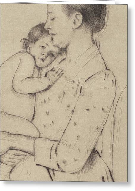 Quietude Greeting Card by Mary Stevenson Cassatt