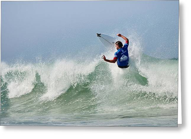 Greeting Card featuring the photograph Quiksilver Pro France I by Thierry Bouriat