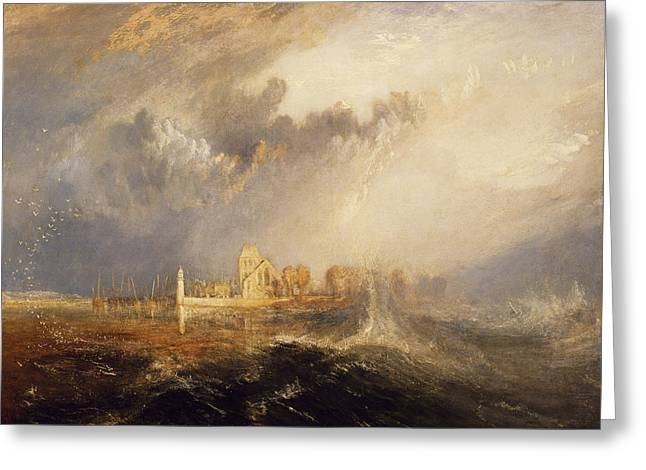 Quillebeuf  Mouth Of The Seine Greeting Card by Joseph Mallord William Turner