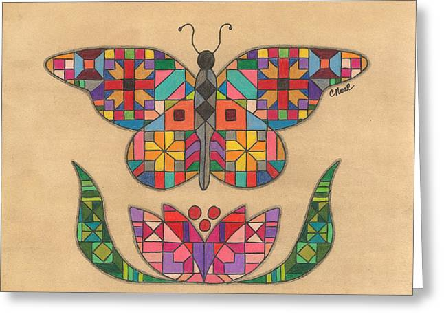 Quilted Butterfly Greeting Card