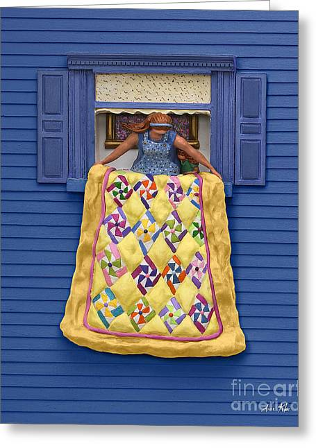 Quilted Showing Greeting Card by Anne Klar