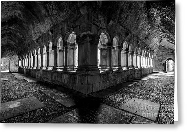 Greeting Card featuring the photograph Quin Abbey by Dennis Hedberg