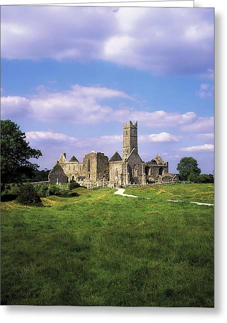Mediaeval Greeting Cards - Quin Abbey, Quin, Co Clare, Ireland Greeting Card by The Irish Image Collection