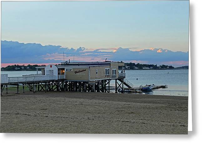 Quincy Ma Wollaston Beach Yacht Club Greeting Card
