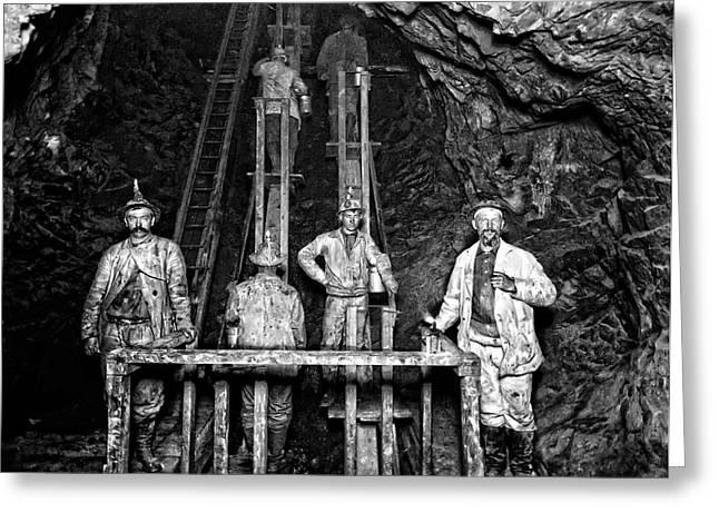 Quincy Mine Man Engine  C. 1890 Greeting Card by Daniel Hagerman