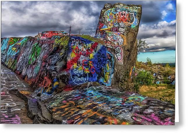 Quincy Quarries Graffiti Greeting Card