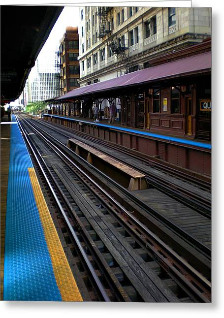 Greeting Card featuring the photograph Quincy Train Station  by Joanne Coyle