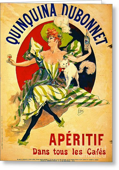 Quinquina Dubonnet Aperitif 1895 Greeting Card by Padre Art