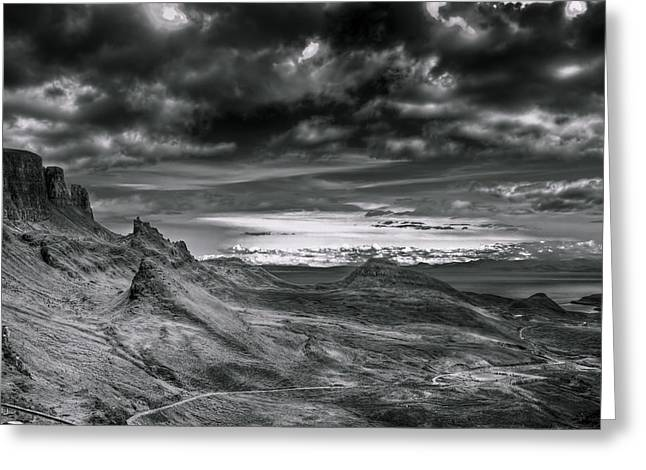 Quiraing On Isle Of Skye Scotland Greeting Card