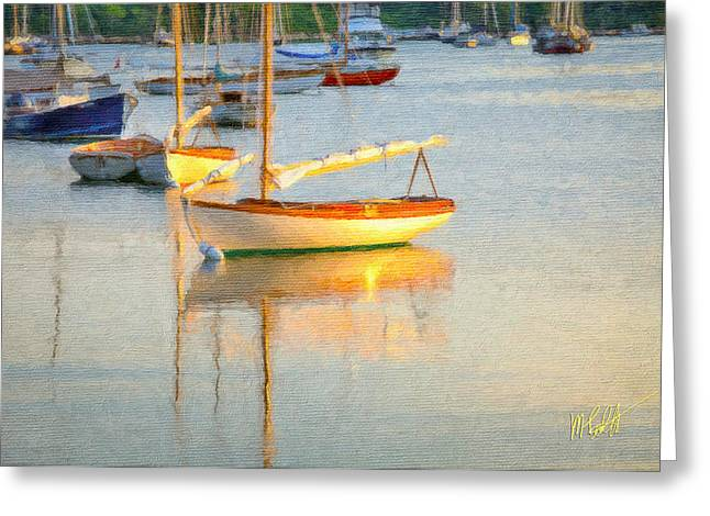 Cat Boat Greeting Cards - Quissett Harbor  Greeting Card by Michael Petrizzo