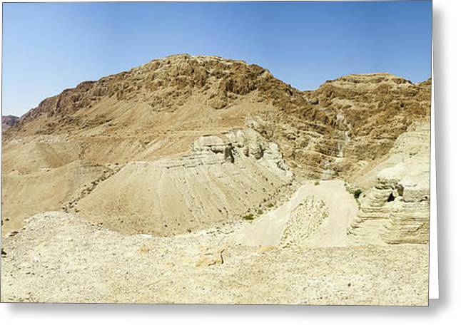 Qumran Caves Of The Dead Sea Scrolls Greeting Card by Clinton Weaver