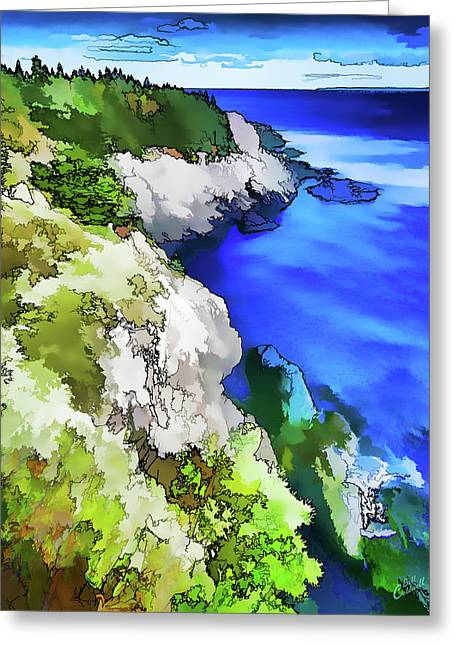 Quoddy Coast - Abstract Greeting Card