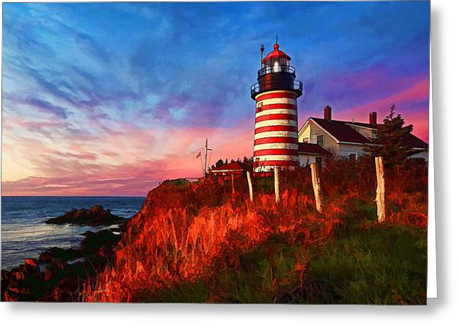 Quoddy Head Sunrise Greeting Card by ABeautifulSky Photography
