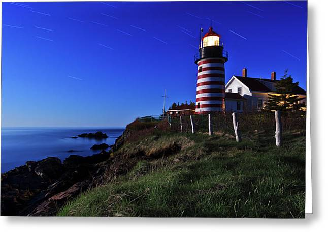 Quoddy Head By Moonlight Greeting Card