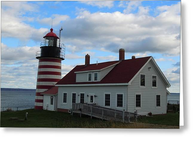 Quoddy Head Light Greeting Card by Francine Frank