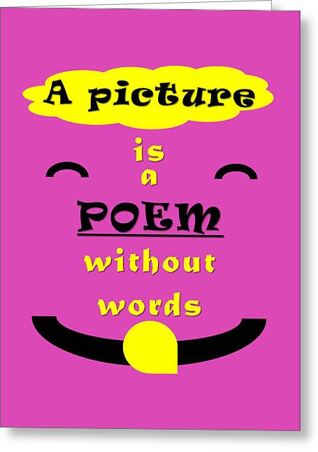 Quote Print -  Greeting Card by Sathish S