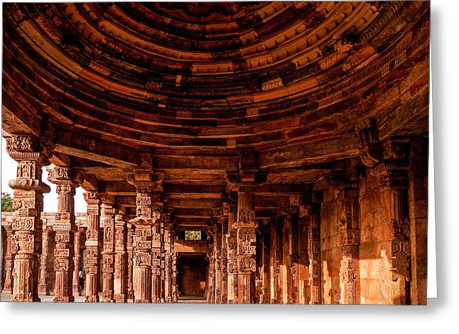 Qutub Minar Greeting Card