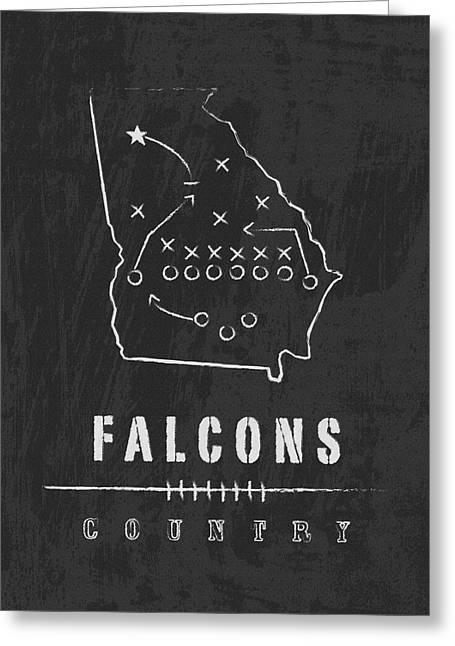 Atlanta Falcons Art - Nfl Football Wall Print Greeting Card by Damon Gray