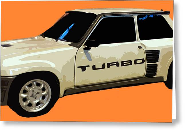 R Turbo Art Greeting Card