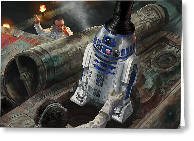R2-d2 Greeting Card by Ryan Barger