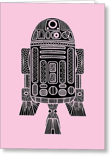 R2 D2 - Star Wars Art Greeting Card