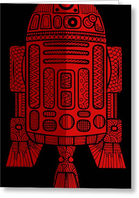 R2d2 - Star Wars Art - Red 2 Greeting Card