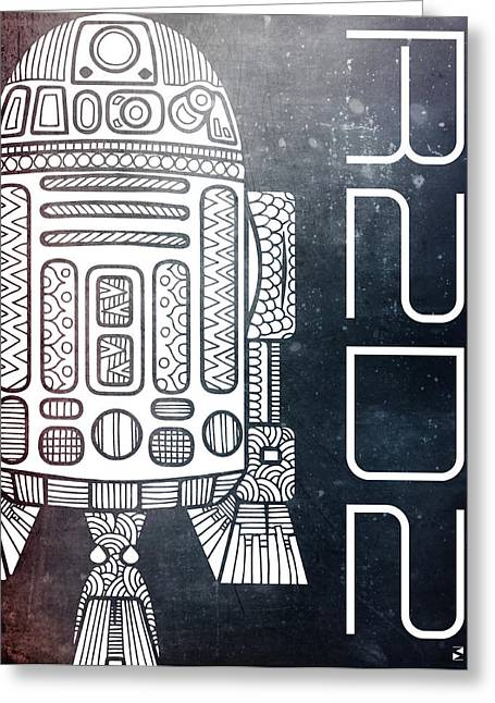 R2d2 - Star Wars Art - Space Greeting Card