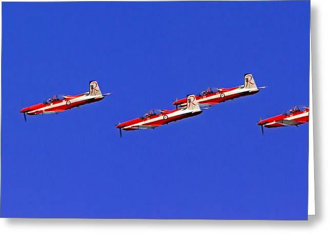 Raaf Roullettes Fly Close Greeting Card by Miroslava Jurcik
