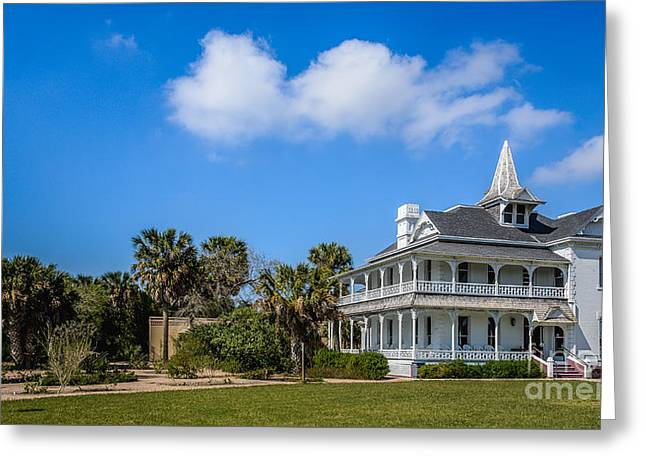 Rabb Plantation - Visitors Center Of Sabal Palm Sanctuary Greeting Card by Debra Martz