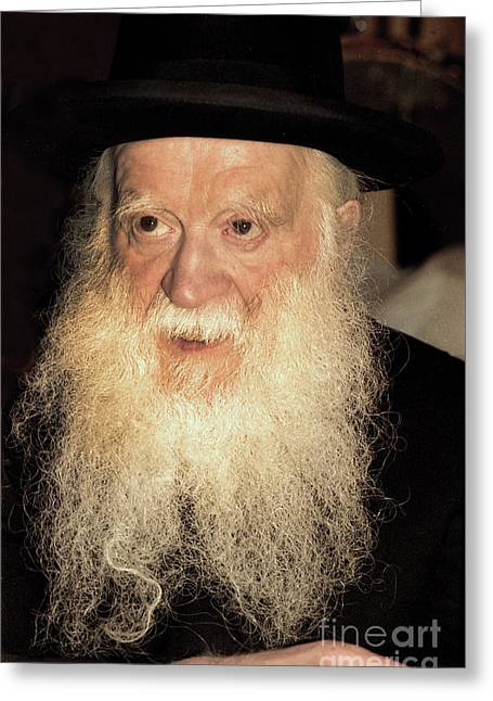 Greeting Card featuring the photograph Rabbi Yehudah Zev Segal by Doc Braham