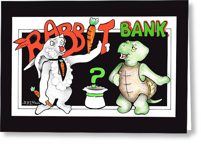 Rabbit Bank Ad 1 Greeting Card